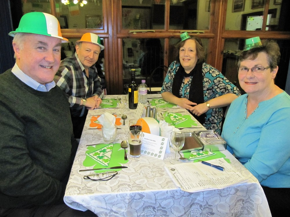 Inner Wheel St Patricks night