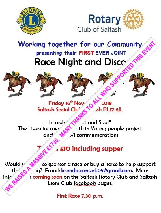 JOINT RACE NIGHT WITH LIONS NOVEMBER 2018 with flash 2