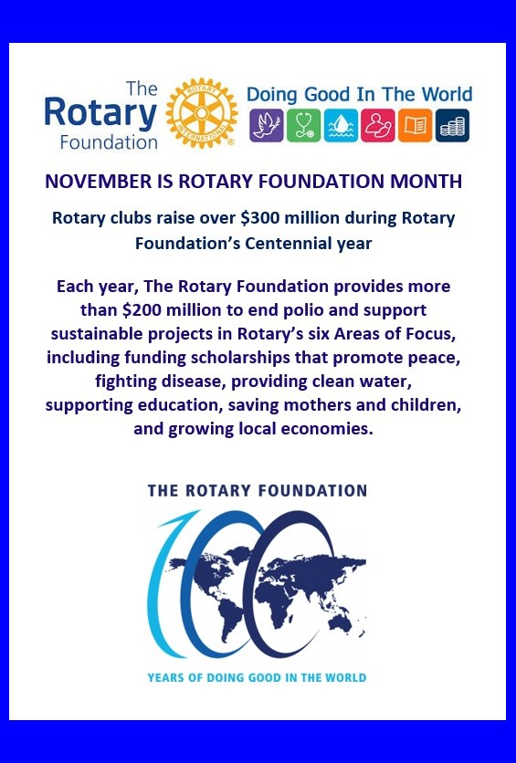 Rotary Foundation month web site picture
