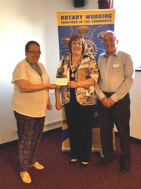 Rotary presentation to Alzheimers Society 2